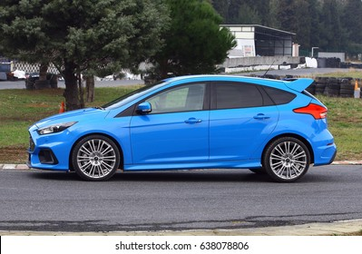 ISTANBUL - MAY: Focus RS model of Ford brand, powerful road vehicle with all-wheel drive system, May 2017 Istanbul.