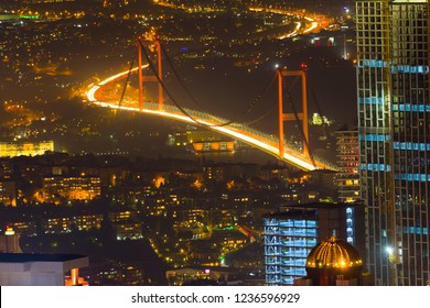 istanbul night and city