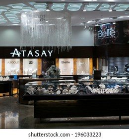 ISTANBUL - NOV. 19, 2013: Atasay store at Ataturk International Airport passenger zone