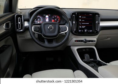 ISTANBUL - NOVEMBER 05, 2018: The XC 40 is Volvo's compact-class SUV. Volvo Cars started production in Sweden in 1927. Volvo Car Group is owned by Chinese Zhejiang Geely Holding.