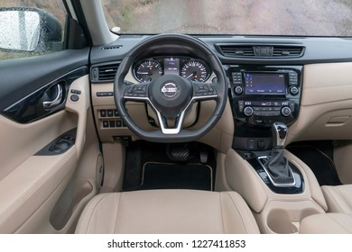 ISTANBUL - NOVEMBER 12, 2018 : Nissan X-Trail is a compact crossover produced by the Japanese automaker Nissan.
