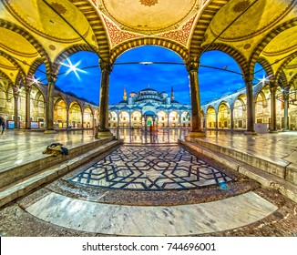 ISTANBUL - OCTOBER 11, 2016: The famous Sultanahmet Mosque (Blue Mosque) in Istanbul, Turkey. One of the main attraction of the city.