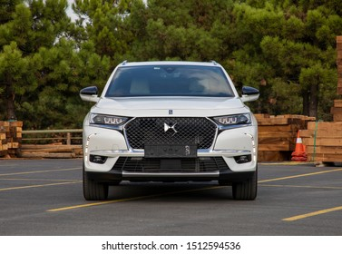 ISTANBUL - SEPTEMBER 24, 2019: DS 7 Crossback is a compact luxury crossover SUV from the French automaker DS Automobiles. 1.5 BlueHDi engine it 130hp power produces.