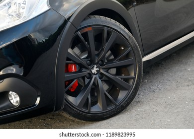 ISTANBUL - SEPTEMBER 27, 2018: Peugeot 208 GTi by PEUGEOT Sport is a small-scale sports car of the French car brand Peugeot.