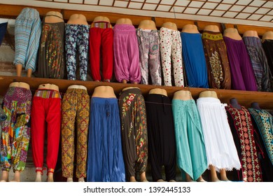 Istanbul Shop Storefront Harem Pants Colorful Turkey
