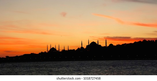 istanbul silhouette sunset