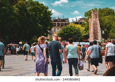 Istanbul, Sultahahmet square / Turkey - 18 06 2019: Sultanahmet square is heart of Istanbul. sultanahmet square is one of the favorite places for many tourists.