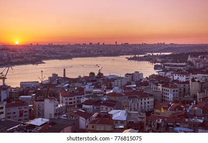 Istanbul sunset from galata tower
