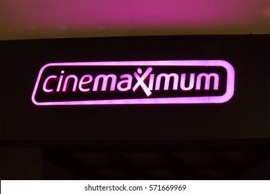 Istanbul, Turkey - 01 February 2017: Signboard of Cinemaximum Cinemas, Istanbul. Mars Cinema Group conducts cinema management activities.