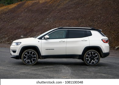 ISTANBUL, TURKEY - 01 MAY 2018: Jeep Compass 4X4 model. The Jeep Compass has been built from the ground up to be the most capable compact SUV ever