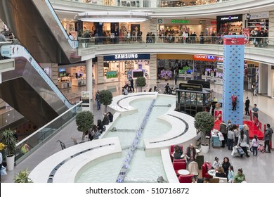 Istanbul , Turkey - 05 November 2016 : Istanbul to brandium life and an image from the mall. Rentable shopping center of 60 thousand square meters