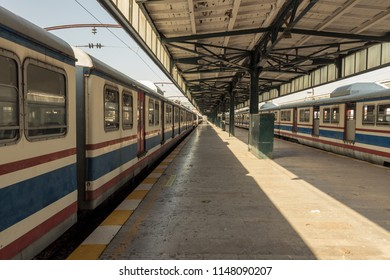 Istanbul / Turkey - 07.29.2017: Decommissioned trains in an abandoned train station.