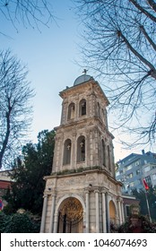 Istanbul, Turkey, 1 February 2018: Rum Orthodox Church at Kuzguncuk