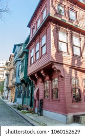 Istanbul, Turkey, 1 February 2018: The Kuzguncuk Homes