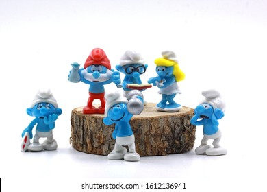 istanbul Turkey. 11 January .2020  Smurf, pope smurf is a little thoughtful these days. He is a very good father. Cute loves him.
