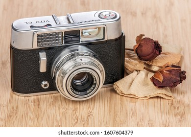 Istanbul / Turkey - 11.22.2019: Vito CL 35mm Range finder Camera, made by Voigtlander and produced between 1961-1967