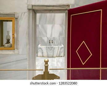 Istanbul, Turkey, 14 January 2019: Maslak Kasri, Ottoman Bath (hammam)