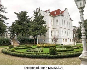 Istanbul, Turkey, 14 January 2019: Maslak Kasri, II. Abdulhamit Han House