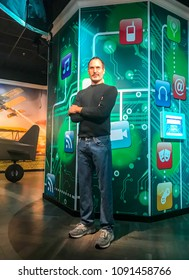 Istanbul, Turkey, 14 May 2018: Steve Jobs wax figure at Madame Tussauds wax museum in Istanbul. Steve Jobs was the co-founder, chairman, and chief executive officer of Apple Inc.