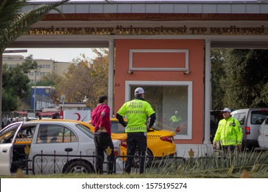 istanbul / turkey - 15 october 2019 - traffic police turkey trafik polisi