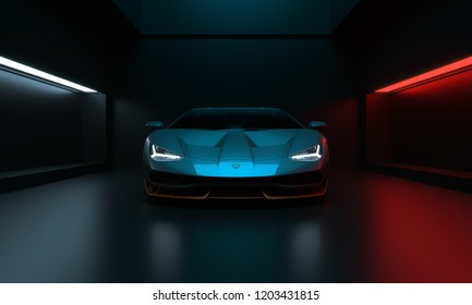 Istanbul, Turkey, 15.10.2018. Sport Car Lamborghini Centenario studio shot