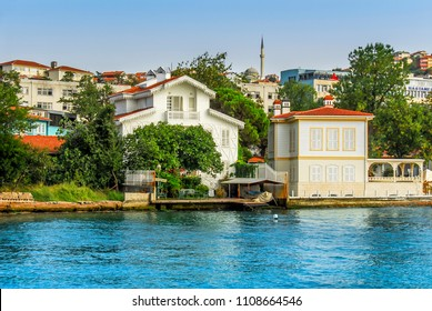Istanbul, Turkey, 2 September 2007: Water Mansions of Beykoz district of Istanbul