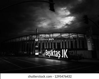 Istanbul / Turkey - 20 January 2019 Soccer field Vodafone Park of Besiktas from outside