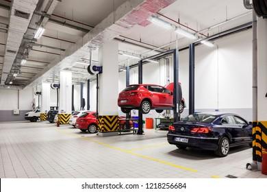 Istanbul, Turkey 2014-05-14 VW Auto Store and Service in Gunesli