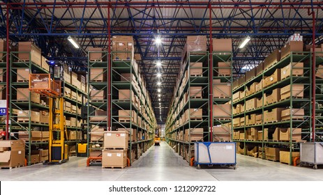 Istanbul, Turkey 2016-02-16: Mercedes-Benz Spare Parts Depot in Istanbul.