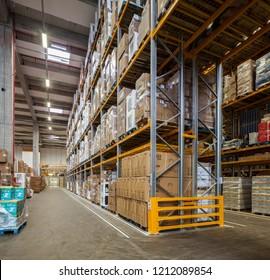 Istanbul, Turkey 2016-05-17: Hepsiburada.com Site Warehouse Depot in Istanbul. Hepsiburada is online retail store in Turkey.