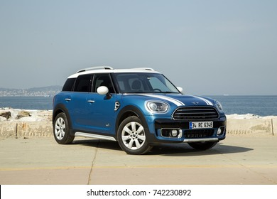 Istanbul; Turkey, 2017: Mini Cooper Countryman is parking near the sea