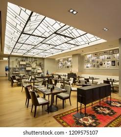 Istanbul, Turkey 2017-05-18: Quasar Fairmont Hotel Istanbul