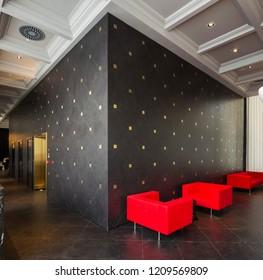 Istanbul, Turkey 2017-05-31: Quasar Istanbul Marcel Wanders Apartment Hall