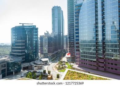 Istanbul, Turkey 2018-06-08: Maslak 1453 mixed use gigantic complex