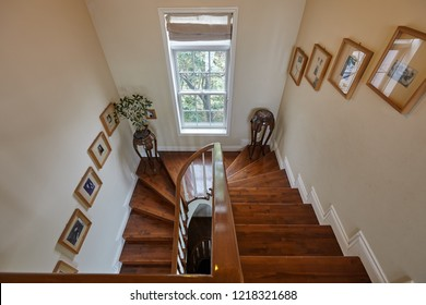 Istanbul, Turkey 2018-08-09 staircase in a luxury apartment real estate