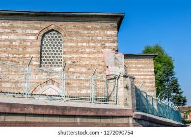 Istanbul, Turkey, 21 April 2006: Sun clock, Ferruh Kethuda Mosque at Balat, Halic