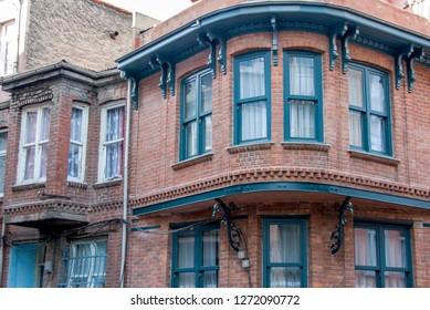 Istanbul, Turkey, 21 April 2006: Historic Balat Mansions, Halic