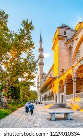 Istanbul, Turkey, 21 August 2018: Suleymaniye mosque The Süleymaniye Mosque is an Ottoman imperial mosque located on the Third Hill of Istanbul, Turkey.