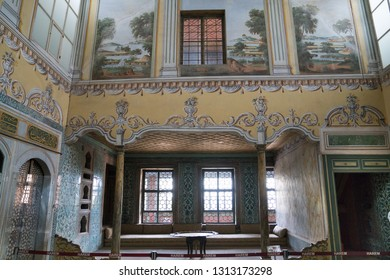 istanbul, Turkey - 21 September 2017:  Topkapi palace, the center of the Ottoman empire for almost 500 years. Topkapi Palace is popular and must-see tourist attraction in the Turkey.
