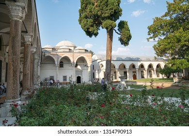Istanbul, Turkey 21 september 2017: Topkapi palace, the center of the Ottoman empire for almost 500 years. Topkapi Palace is popular and must-see tourist attraction in the Turkey.