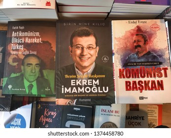 Istanbul Turkey. 23 April 2019. The book about the life of Ekrem İmamoğlu who was elected as the Mayor of İstanbul Metropolitan Municipality