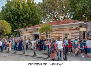 Istanbul, Turkey, 23 August 2018: Yerebatan Sarnici at Sultanahmet
