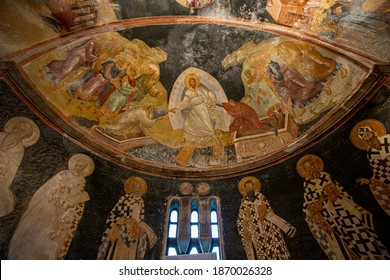 Istanbul, Turkey - 23 June 3012 ; The Church of the Holy Saviour in Chora is a medieval Byzantine Greek Orthodox church preserved as the Chora Museum (14th century).