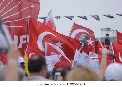 Istanbul, Turkey - 23rd June 2018 - Photo from the CHP meeting held by Muharrem Ince