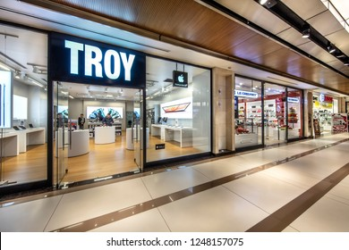 Istanbul, Turkey - 24 Kasım 2018; Troy sells Apple products at its technology store. Citiy's shopping center, Nisantasi, Istanbul.