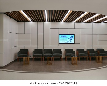 Istanbul, TURKEY - 24 December, 2018: Emsey Hospital renewed, background design for hospital and clinic interior.