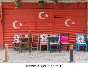 Istanbul, Turkey - 25th April 2017 - even if almost unknown among the tourists, Fener & Balat are maybe the most typical and colorful areas of Istanbul. Here in particular a look of their alleys