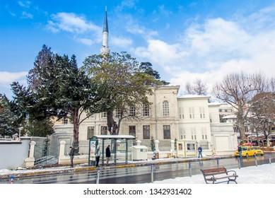 Istanbul, Turkey, 26 January 2010: Hamid-i Evvel Mosque, Cinaralti, Emirgan