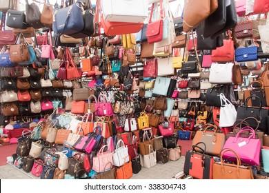 ISTANBUL, TURKEY - 29 APRIL, 2015: Grand Bazaar, handbags store