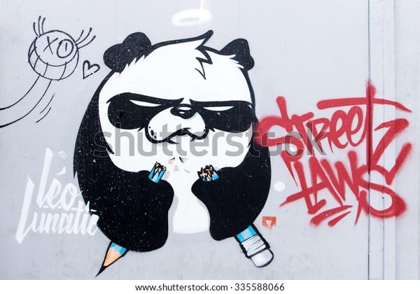 ISTANBUL, TURKEY - 29 APRIL, 2015: December 6: Graffiti Art from Istiklal Street, Taksim